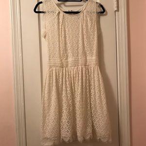Lace effect Spring/Summer sleeveless dress